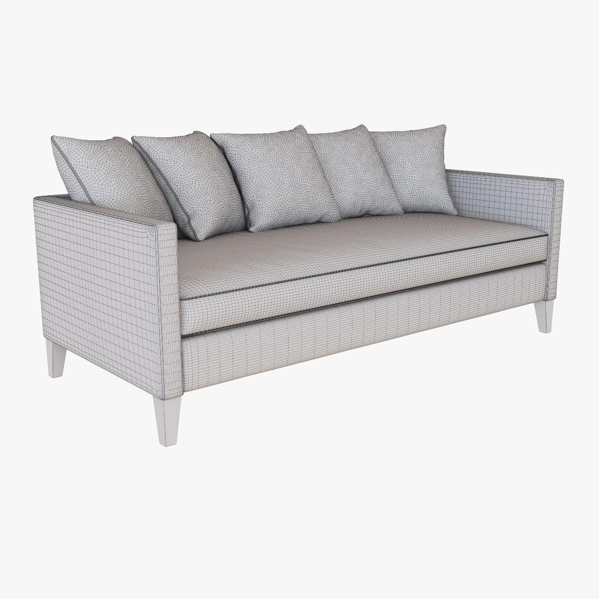 ... West Elm Dunham Down Filled Sofa   Toss Back 3d Model Max Obj Fbx Mtl  ...