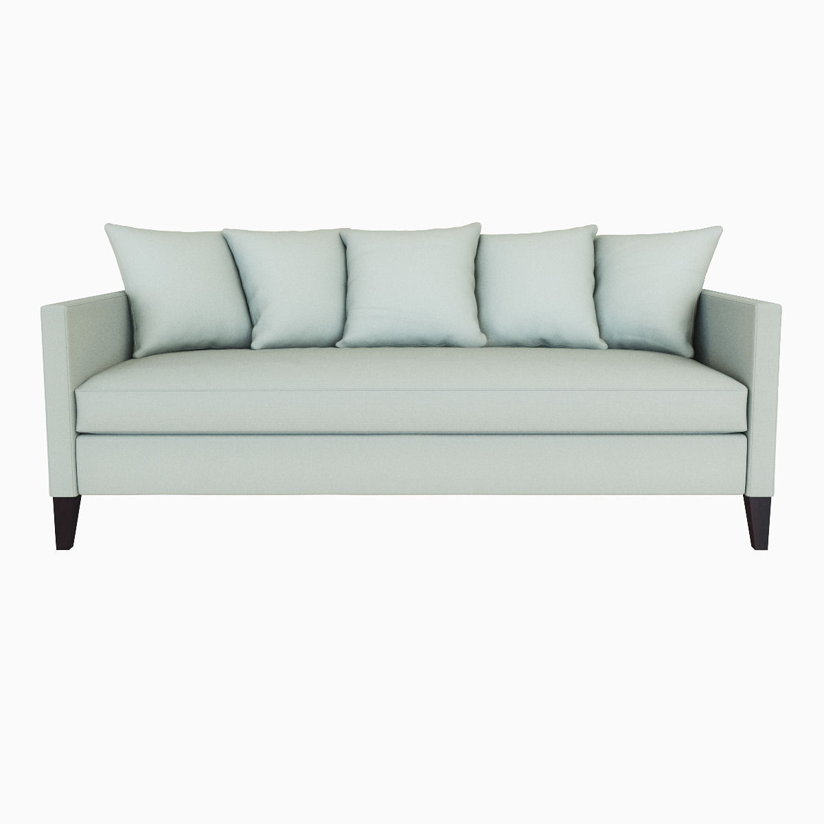 ... West Elm Dunham Down Filled Sofa   Toss Back 3d Model Max Obj Mtl Fbx  ...