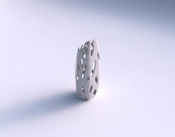 Vase bent hexagon with smooth cuts 3D print model