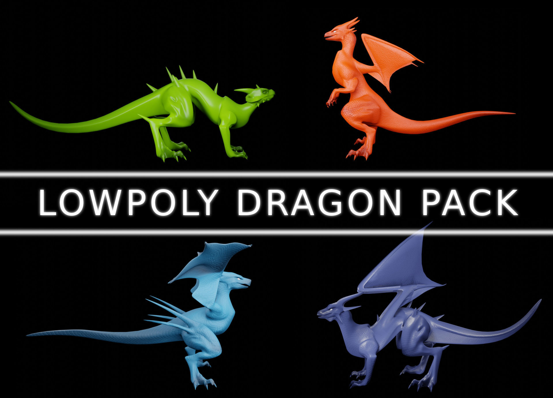 Lowpoly Dragon Pack