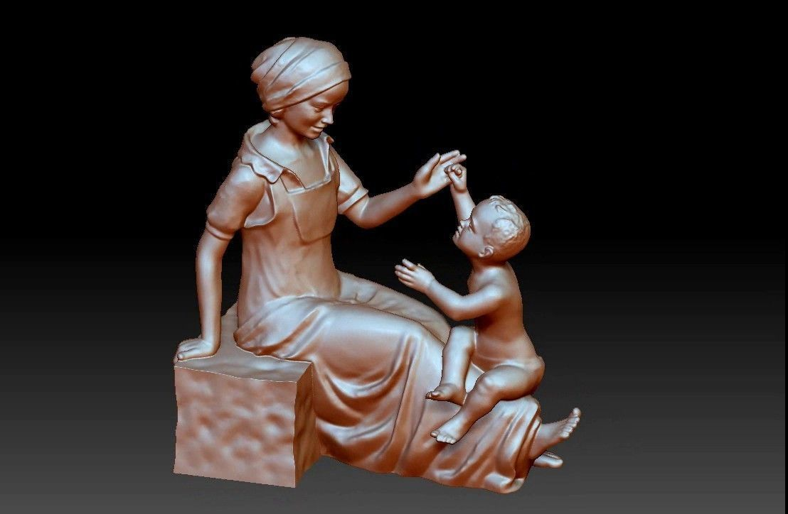 Baby Mother Decorative Ornaments Figures