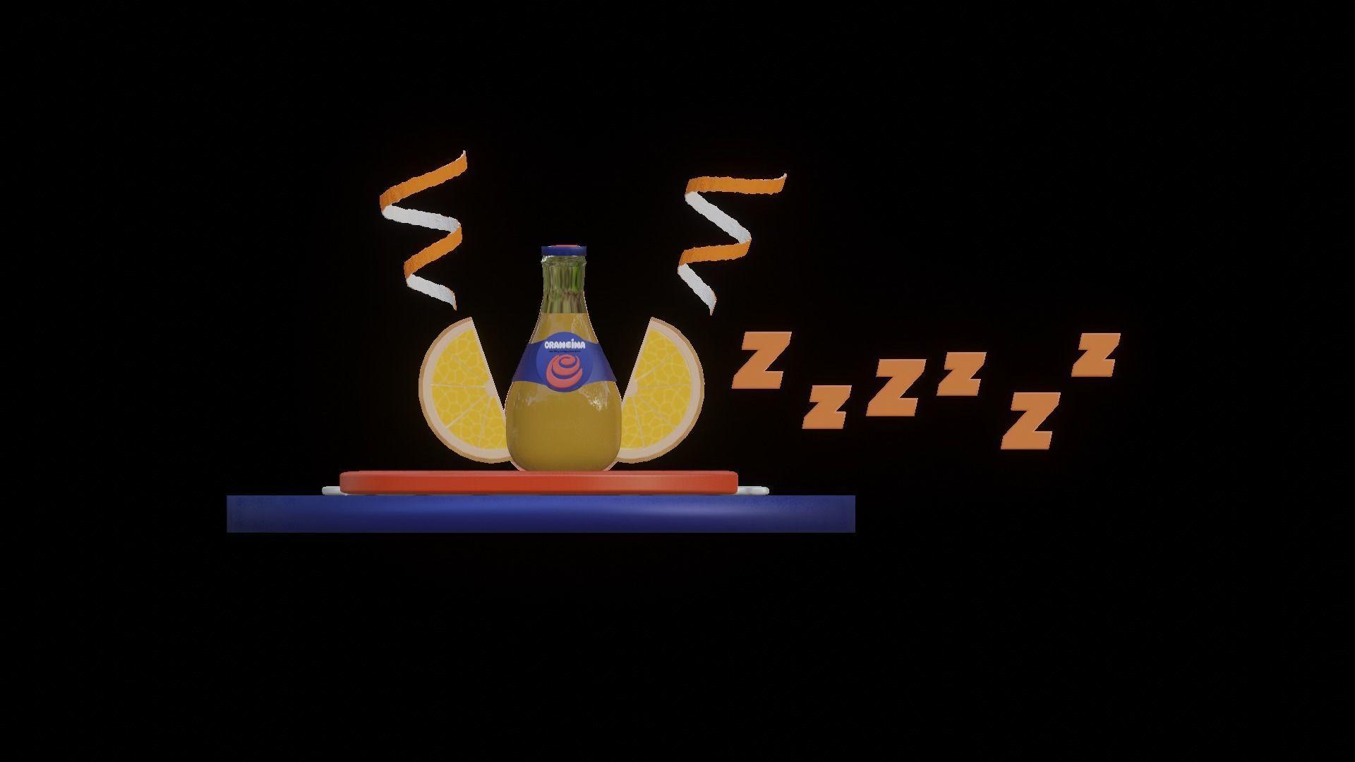Orangina Bottle and Logo