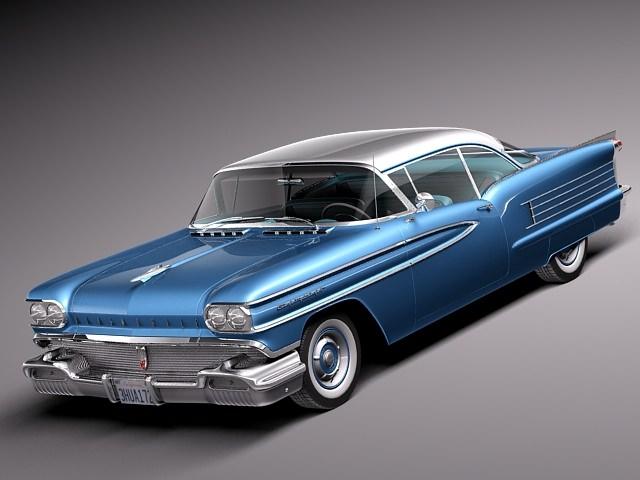 oldsmobile 88 1958 coupe 3d model max obj mtl 3ds fbx c4d lwo lw lws 1