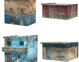 shanty town buildings 2 rigged realtime 3d asset
