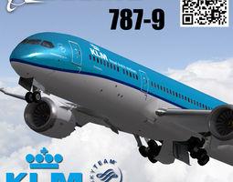 3D model Boeing 787-9 KLM Royal Dutch Airlines