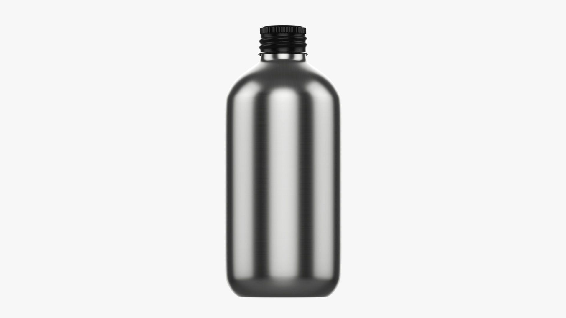 Bottle with cap metal medium