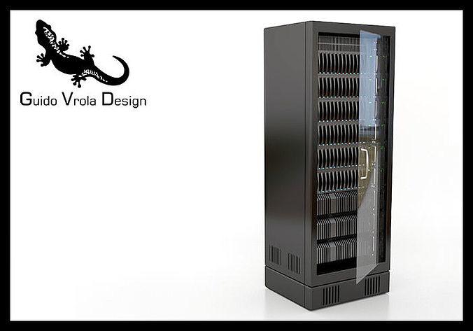 server rack 3d model obj mtl 3ds fbx blend 1