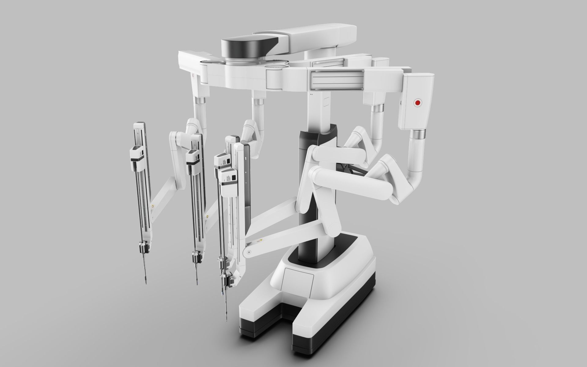 Surgical Robotic System da Vinci SI with an operating table