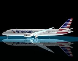 3D American Airlines 787 - 8 Dreamliner