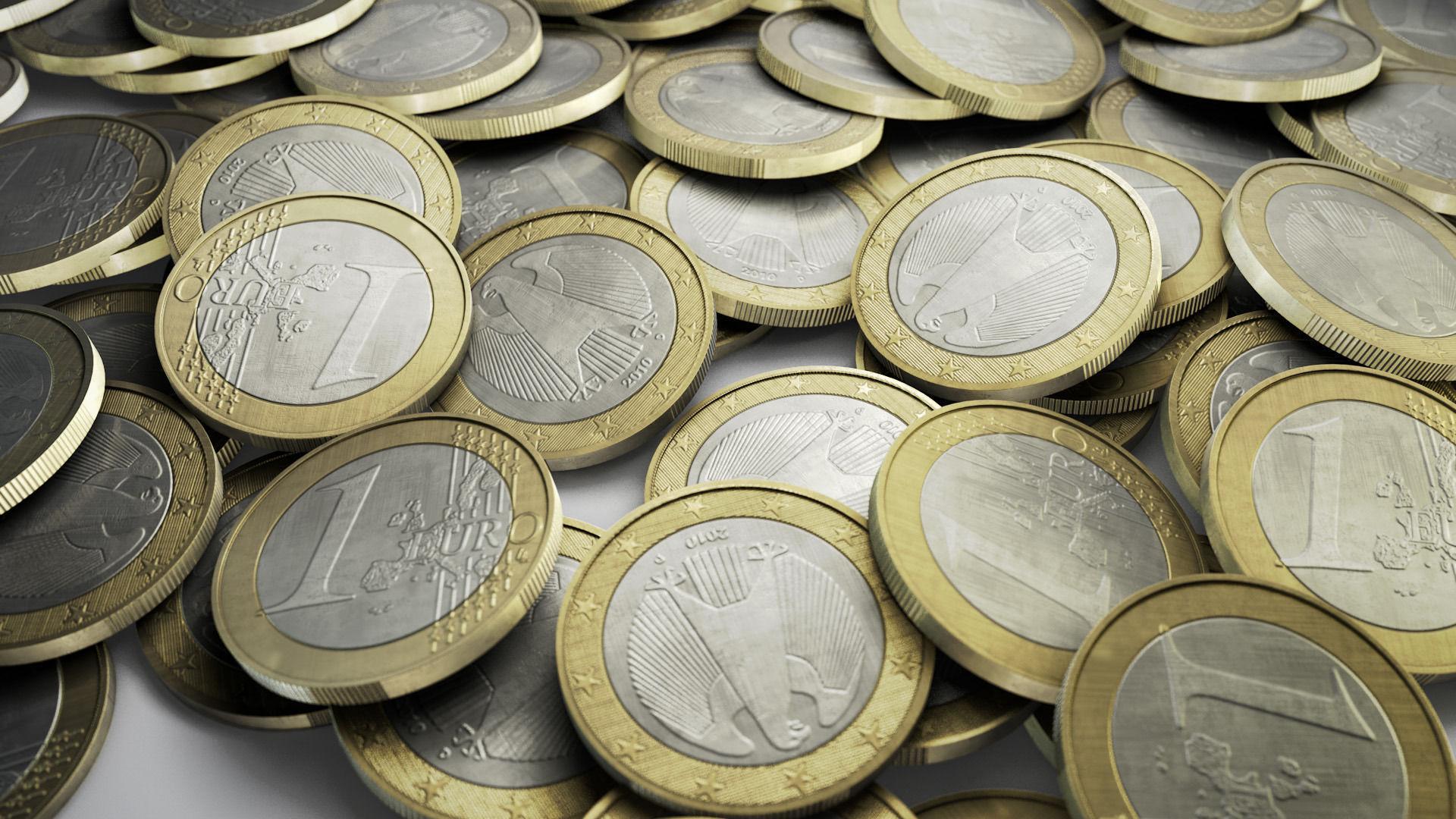 3d Asset 1 Euro Coin Cgtrader