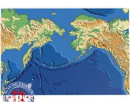 3d bering strait elevation map