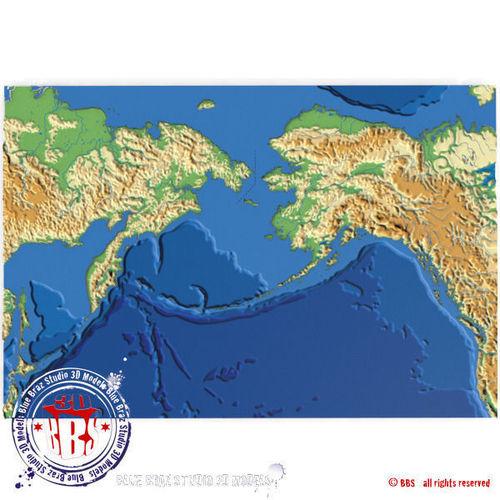 Bering strait elevation map 3d model cgtrader bering strait elevation map 3d model gumiabroncs Images
