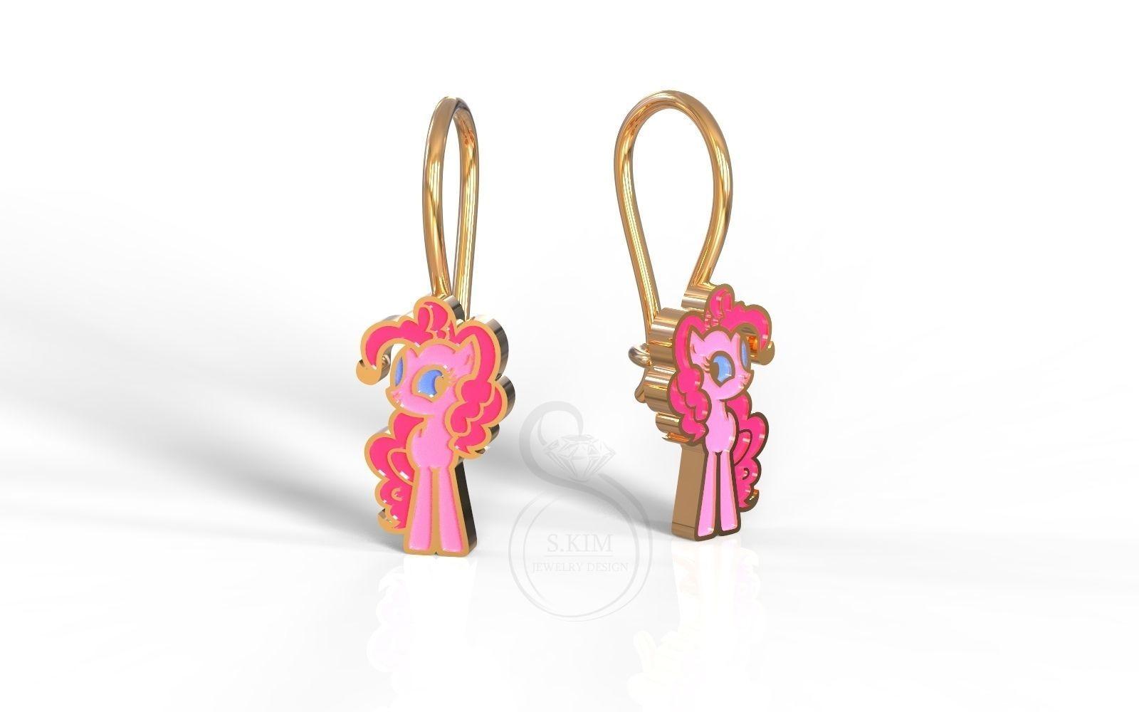 Pinkie Pie earrings