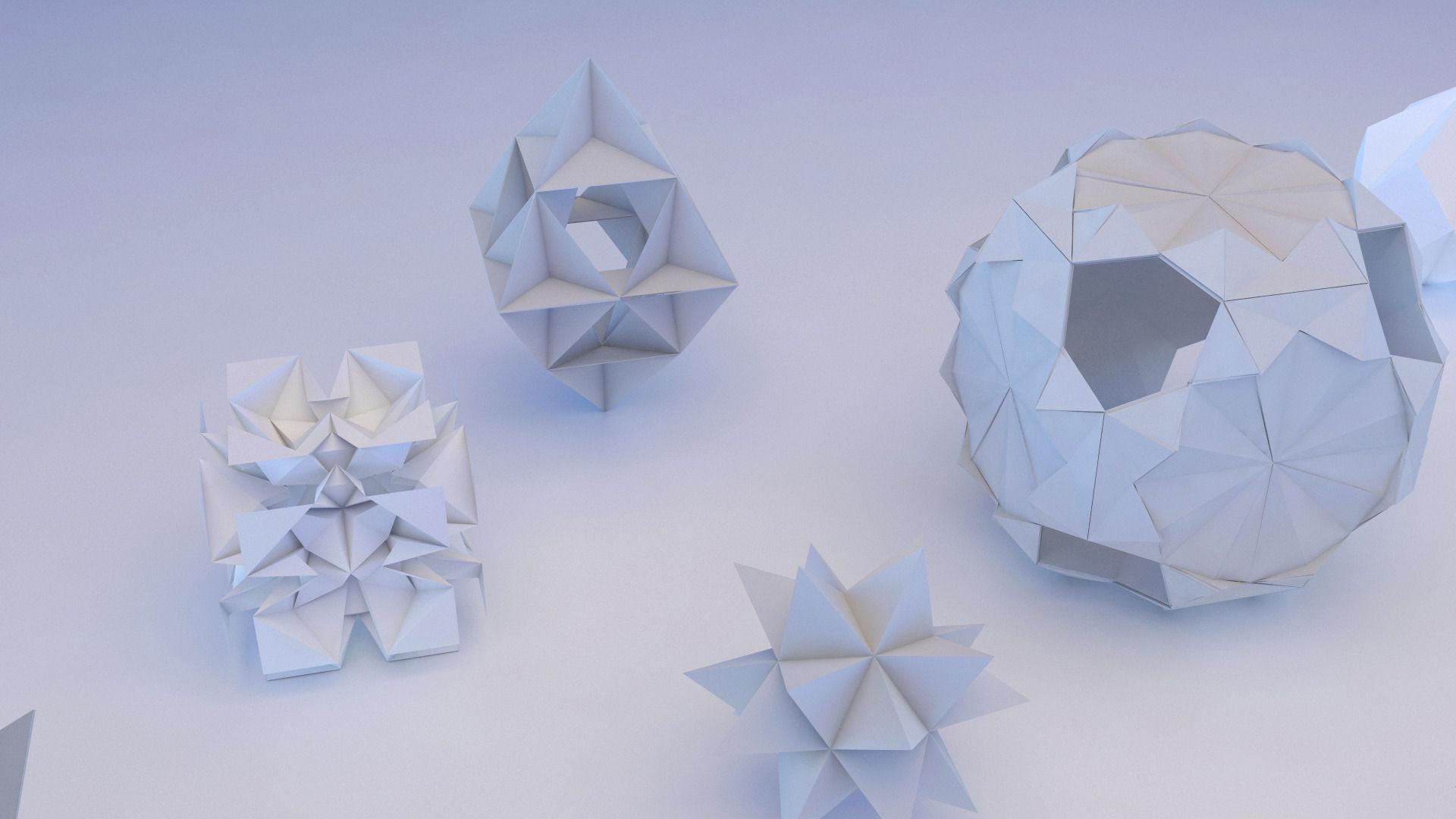 Origami Geometric 3D Model MAX OBJ 3DS FBX MTL | CGTrader.com - photo#12