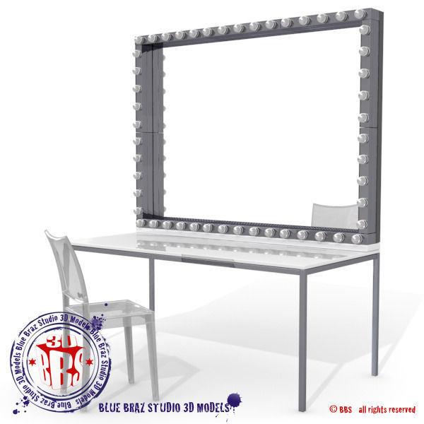 dressing room mirror 3D | CGTrader