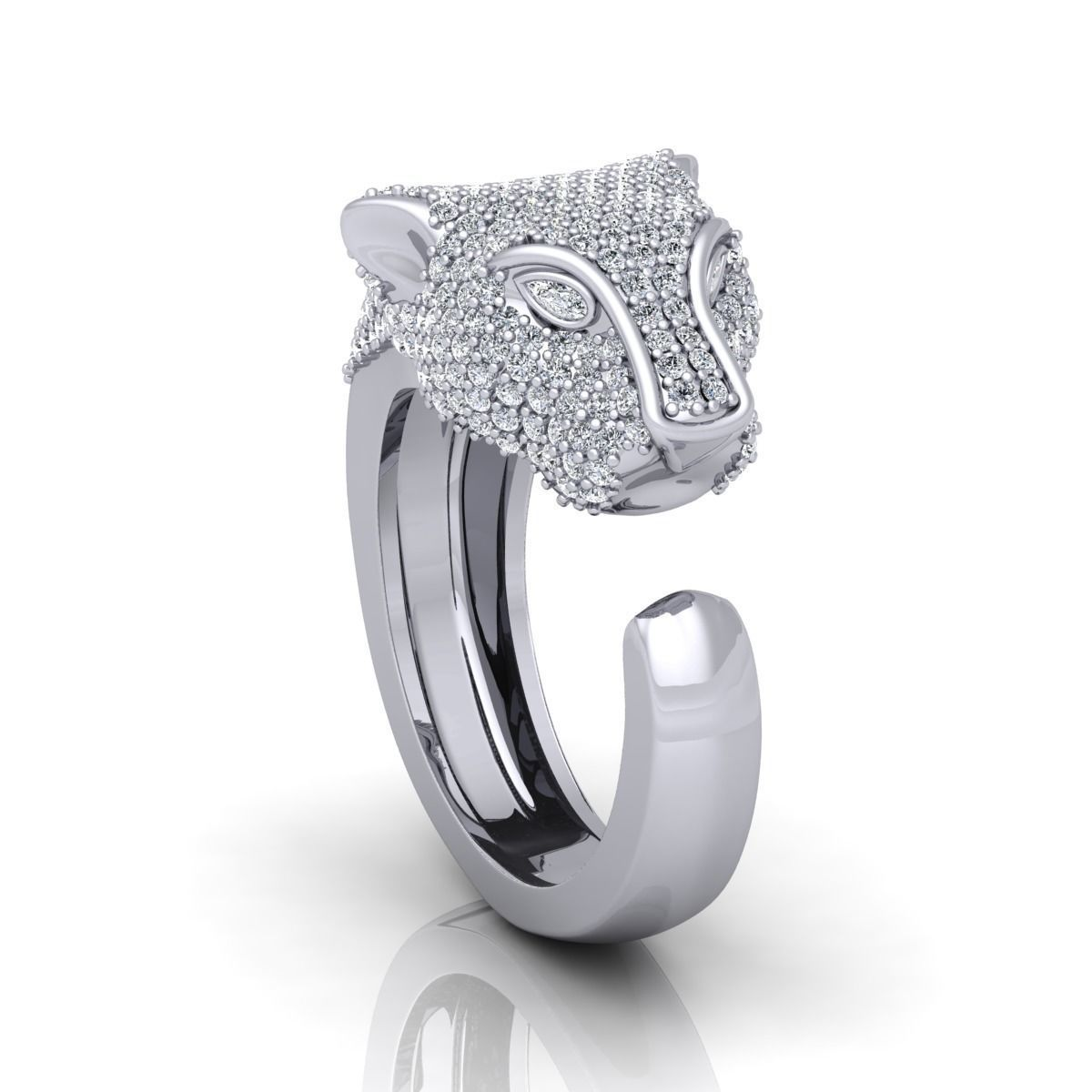 Lion Head Ring with Detail