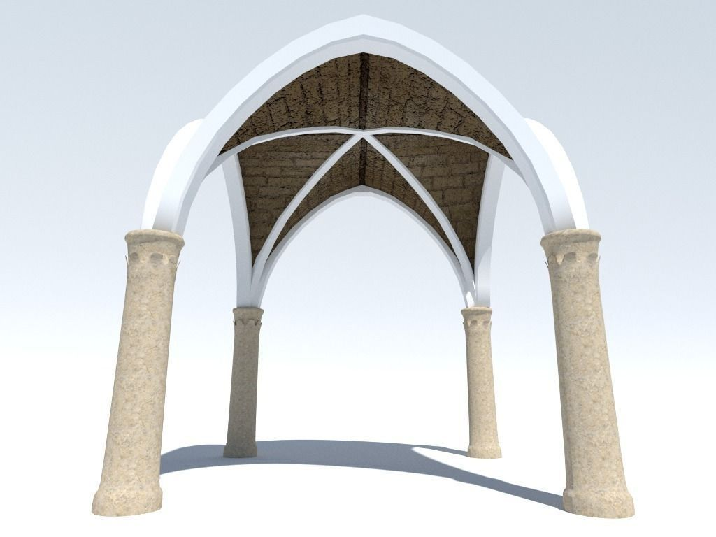 Ancient Cross Vault with Columns