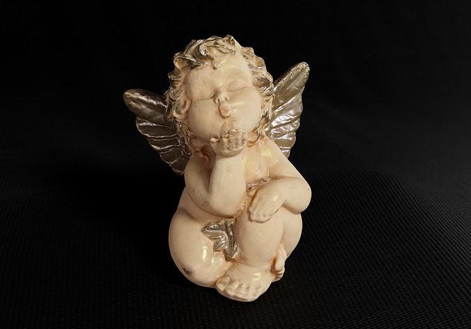 Decoration - Kitsch Angel Statue 01 -
