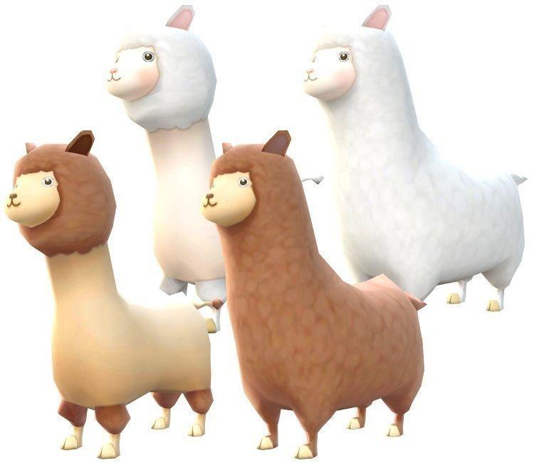 Lowpoly Animal Cartoon - Alpaca