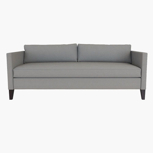 west elm dunham down-filled sofa - box cushion 3d model max obj mtl fbx 1