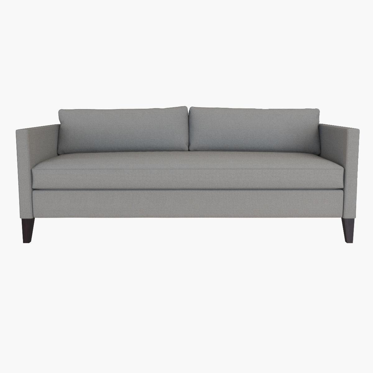 Good West Elm Dunham Down Filled Sofa   Box Cushion 3d Model Max Obj Fbx Mtl ...
