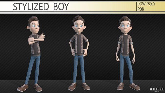 Stylized boy