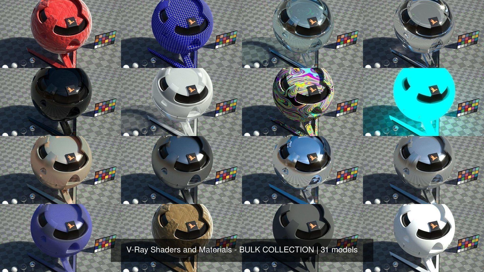 V-Ray Shaders and Materials - BULK COLLECTION - BIG DISCOUNT