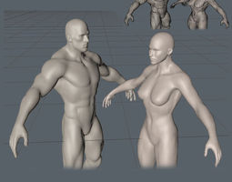 man and woman realtime 3d asset