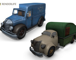 3d rigged truck pack 1