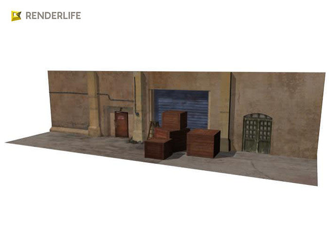 3d model back alley set cgtrader for Max 4 set letto