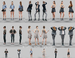 6 Realistic Female Characters Vol 5 3D Model
