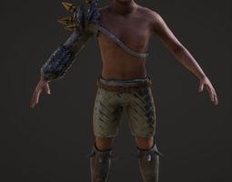 human warrior 3D asset