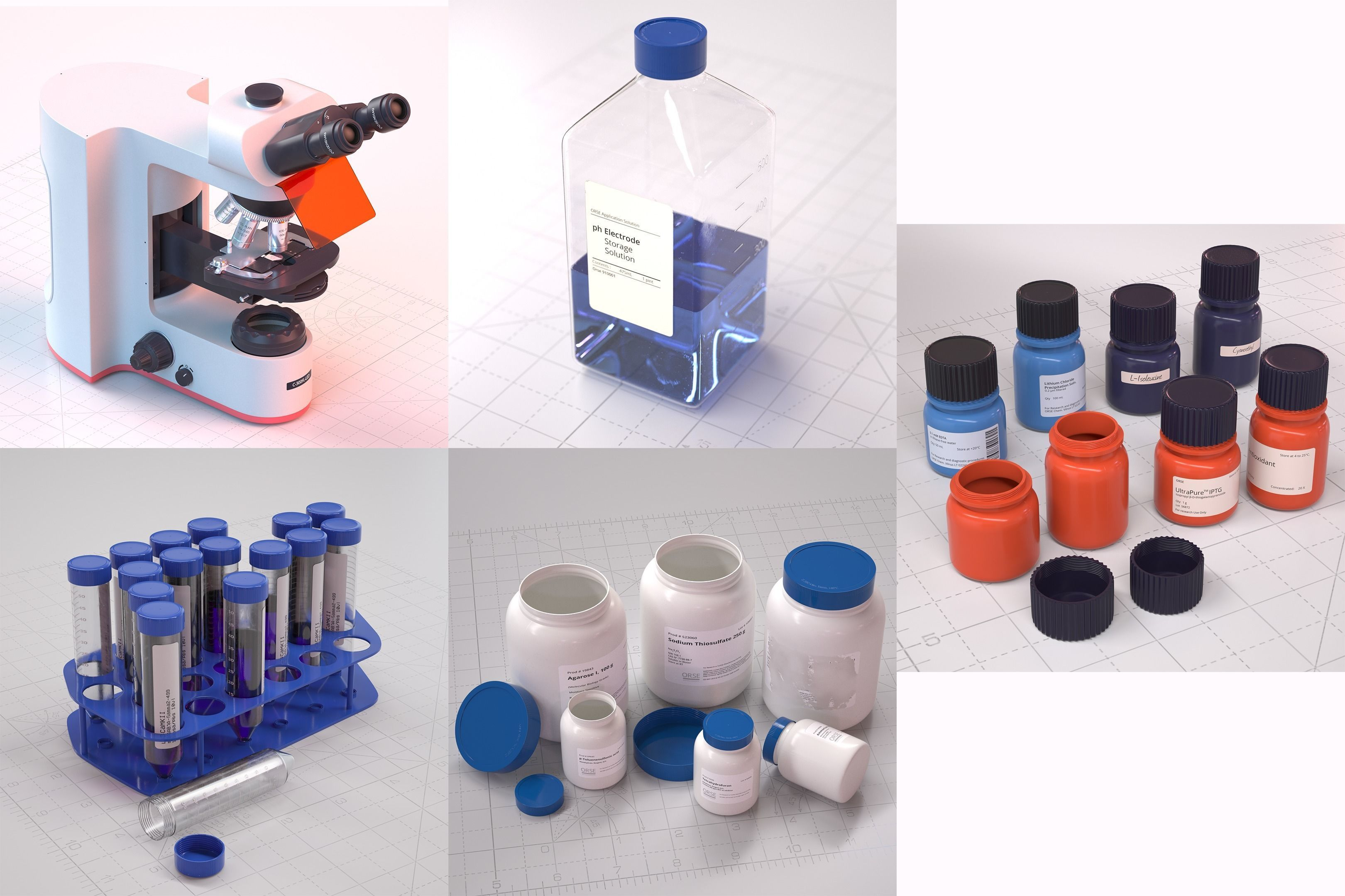 Laboratory Assets  Microscope Tubes and Bottles