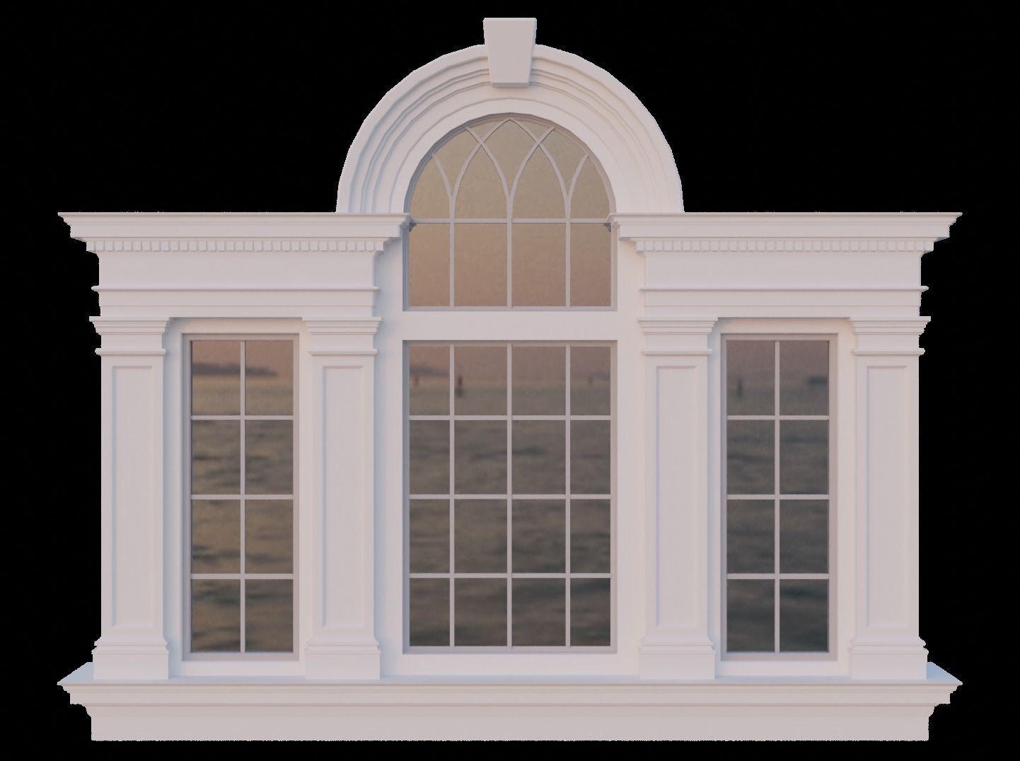 Palladian Window Venetian Window 3d Asset Cgtrader