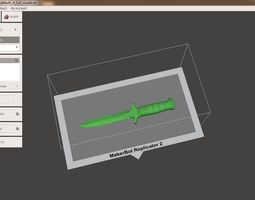 3D print model dagger toy