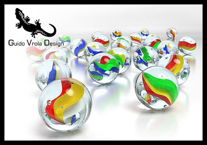 marbles 3d model obj mtl 3ds fbx blend 1