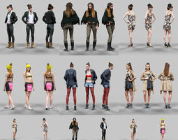 6 Realistic Female Characters Vol 10 3D Model