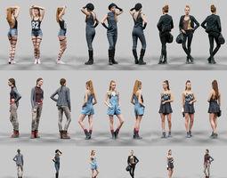 6 Realistic Female Characters Vol 11 3D Model