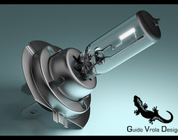 3D model H7 Car Headlamp