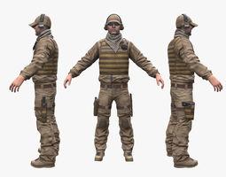 Soldier Sniper 3D model