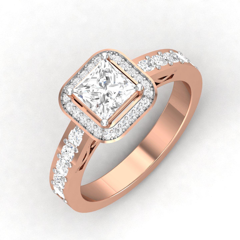 solitaire wedding engagement women ring 3dm render detail