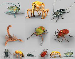 insect collection vol 2 3d asset realtime