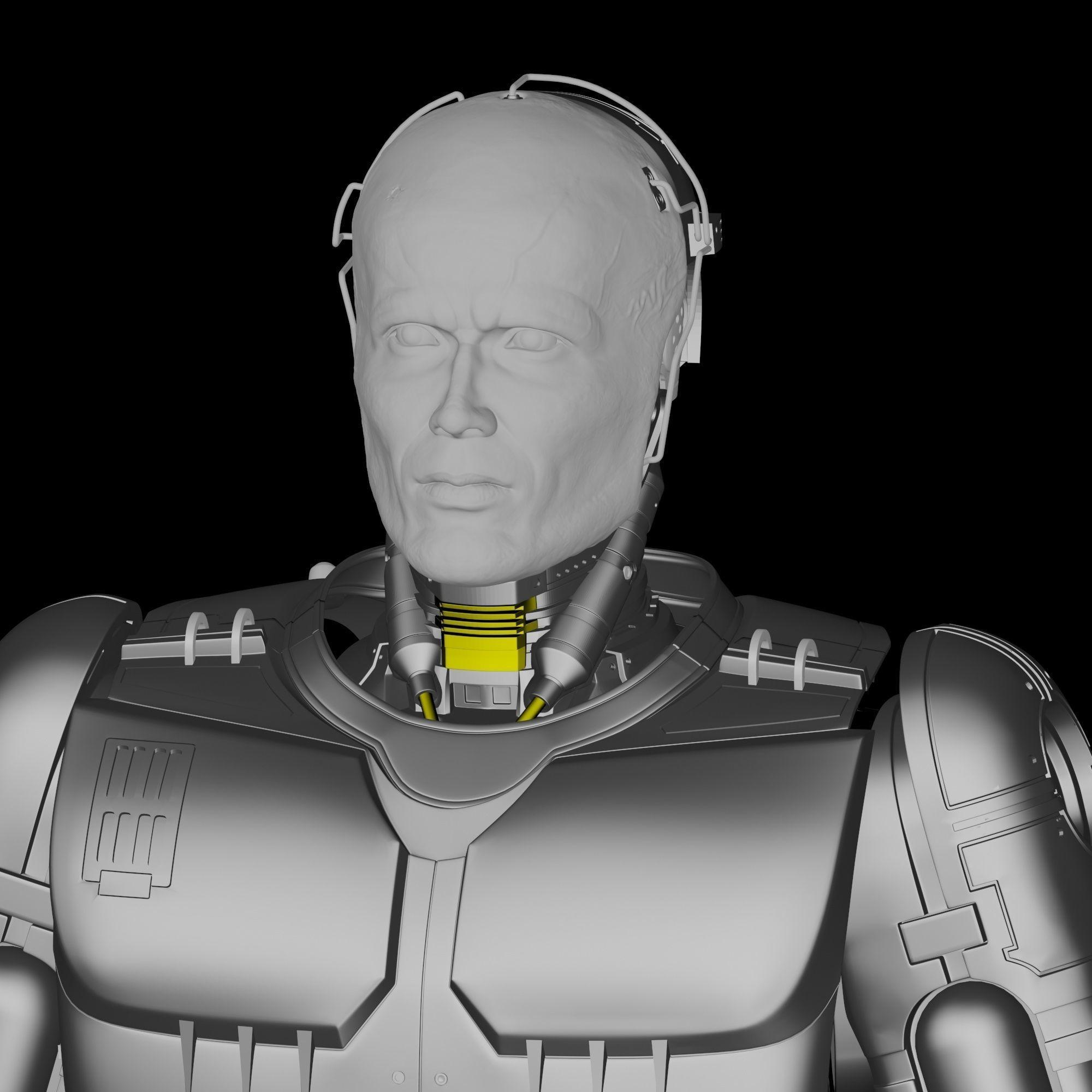 Robocop Head for 3D Print
