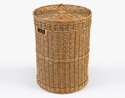 3D model Wicker Laundry Basket 02