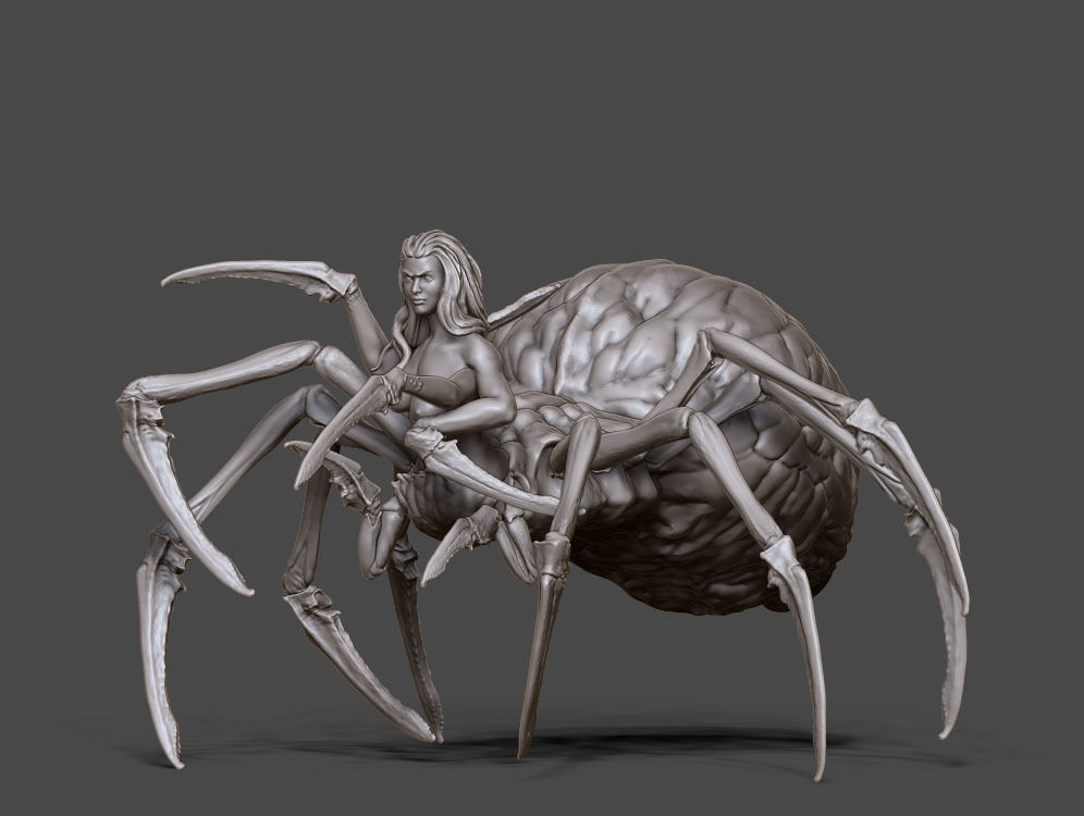 Arachne - Spider queen- 35mm scale