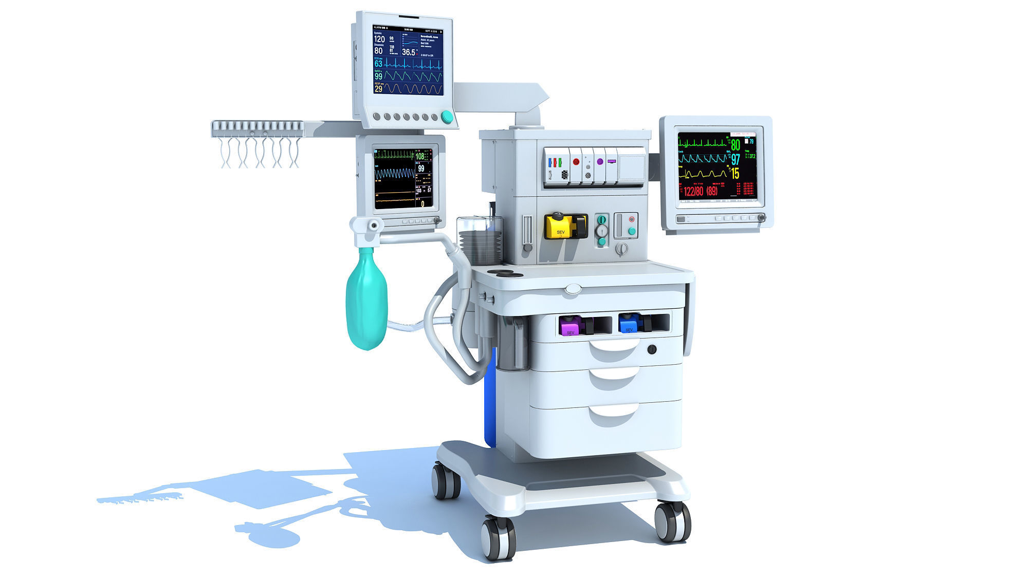 Anesthesia Respiratory Workstation Machine