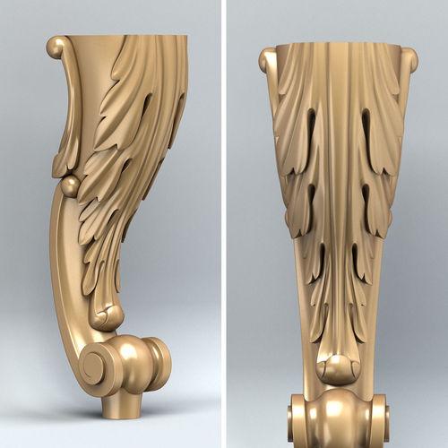 furniture leg 002 3d model max obj mtl fbx stl 1