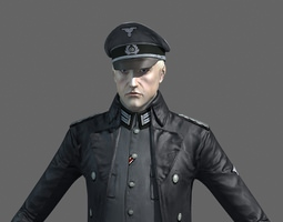 3D WWII German Officer
