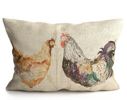 Voyage Cushion - Chickens -Solid Pillow 3D model