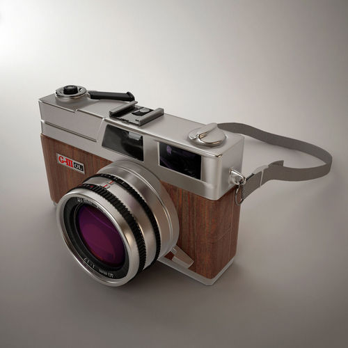 classic camera 3d model max obj mtl 3ds fbx ma mb 1